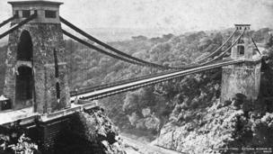 The Clifton Suspension Bridge, Brunel's masterpiece, completed posthumously © Amgueddfa Cymru – National Museum of Wales