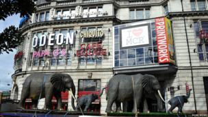 Elephant models in Manchester