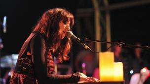 Canada's Rachel Zaffira performs live at Green Man 2013