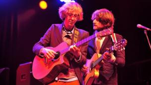 Indie folk-pop duo Kings of Convenience live at the Green Man Festival