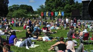 Mostly dry for Wales' Green Man festival