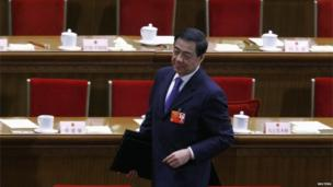 Bo Xilai at the Great Hall of the people in March
