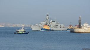 HMS Gibraltar arriving Gibraltar. Photo: Allan Cromarty