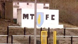 Merthyr Tydfil Football Club stand