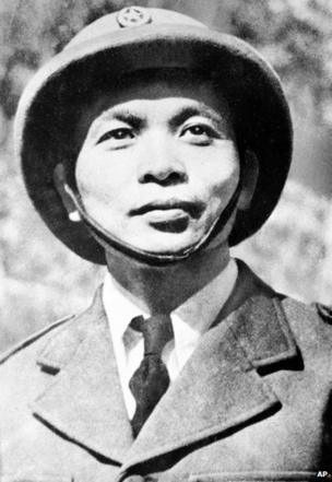 General Vo Nguten Giap commanding the Communist-led Vietminh forces waging war against French Union Troops in Indochina, May 22, 1954.