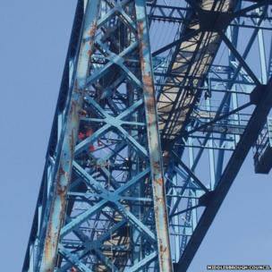 Painting the bridge in 2013