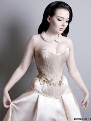 Model in corset
