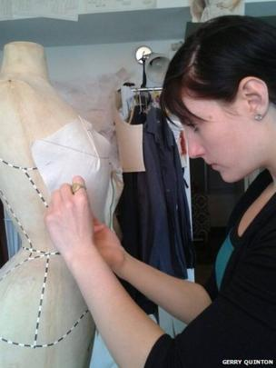 Draping on mannequin