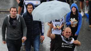 Hull FC fans at Wembley for the Challenge Cup final