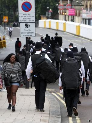 Police arrive at Notting Hill Carnival