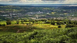Overlooking Cwmbran and Newport