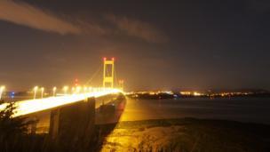 A long exposure image of the M48 Severn Bridge