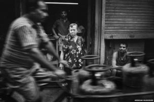 Elderly Anglo-Indian woman in Calcutta