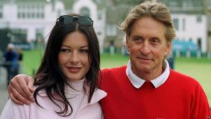 Catherine Zeta Jones and Michael Douglas. Hollywood actor Douglas is to marry Welsh beauty Jones, he announced Thursday 6 January 2000. Ending months of speculation, Douglas, 55, who spent Christmas with the actress in Wales, said: I am very happy to announce that I am engaged to Catherine Zeta Jones. The actor also revealed that he popped the question as the couple celebrated the dawn of the new millennium at his home in the Rockies