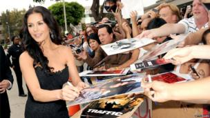 JULY 11: Actress Catherine Zeta-Jones attends the premiere of Red 2 at Westwood Village on July 11, 2013 in Los Angeles, California. (Photo by Kevin Winter/Getty Images)