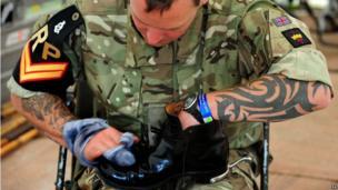 Serviceman at Chatsworth