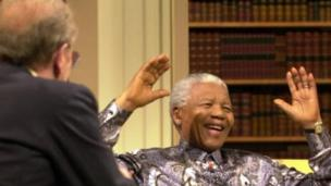 Sir David Frost interviews Nelson Mandela