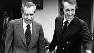 Sir David Frost and Richard Nixon