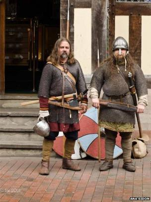 Re-enactors at Stafford Ancient High House