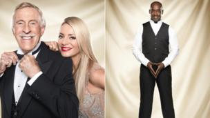 Bruce Forsyth, Tess Daly and Patrick Robinson