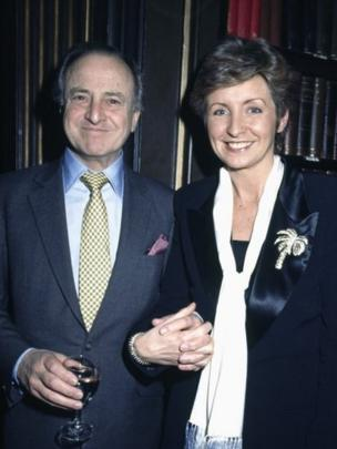 David Jacobs and Sue Lawley at the Radio 4 Desert Island Discs 50th Anniversary Party held on Tuesday 21st January 1992.