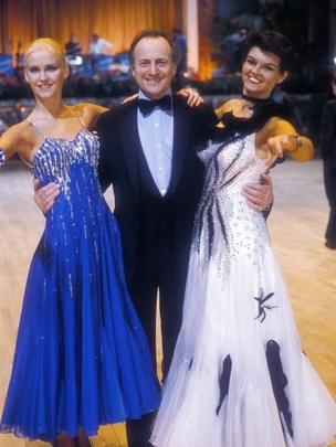 Kate Fisher, David Jacobs and Diane Haywood on the set of Come Dancing in 1984