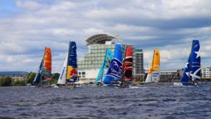 Extreme 40 catamarans racing