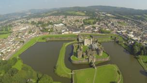 Caerphilly Castle,