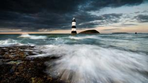 A stormy evening at Penmon, Anglesey
