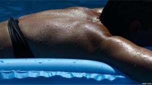 Person sunbathing