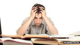 stressed pupil