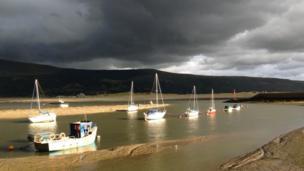 Yachts at Barmouth