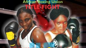 Zambia's Catherine Phiri and Tganda Toma Hawa Babirye pictured on a poster - Monday 2 September 2013