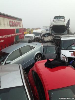 Sheppey crossing crash. Photo: Duncan Barrier