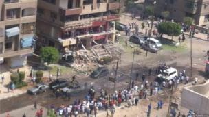 Egypt bomb attack. Photo: Raouf Mahmoud
