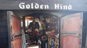 Golden Hind in Brixham. Pic: Chris Slack