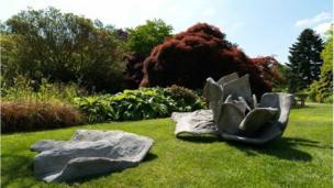 Marigold Hodgkinson's rose-shaped sculpture