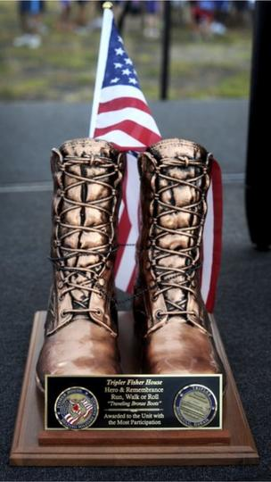 The Bronze Boots represent the military unit that had the most participation. The 3BSTB Bayonets, U.S. Army earned them this year.