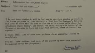 Letter from press officer Vernon Noble to head of publicity