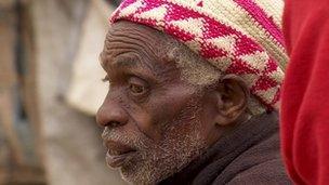 Old man in Kihoto camp, Kenya
