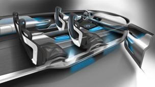 Jaguar C-X17 Sports Crossover Concept interior