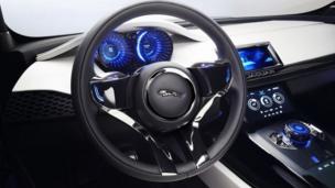 Jaguar C-X17 Sports Crossover Concept steering wheel
