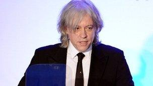 77cf971c2db Bob Geldof set to travel into space - BBC News