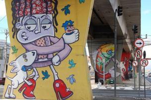 Graffiti in Santana, Sao Paulo