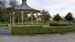 The bandstand at Mesnes Park
