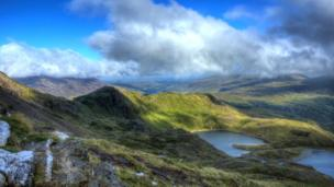 The view from Snowdon's Pyg track