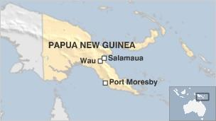 Map Of Australia New Zealand And Papua New Guinea.Png Attack Kills Porters Injures Foreign Trekkers Bbc News