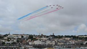 The Red Arrows at the Guernsey Air Display 2013