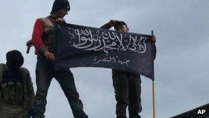 Al-Nusra Front fighters in Idlib, Syria, Jan 2013