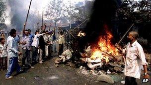 File photo of Gujarat riots (28 February 2002)